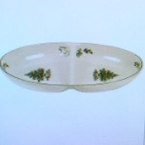 Spode Christmas Tree Oval Divided Dish